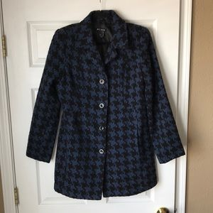 Axcess Navy black houndstooth peacoat